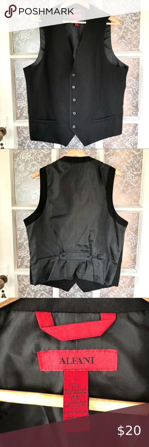 Must Sell Alfani Black Dress Vest Large Men S Black Vest Dress Vest Dress Black Dress [ 1740 x 580 Pixel ]