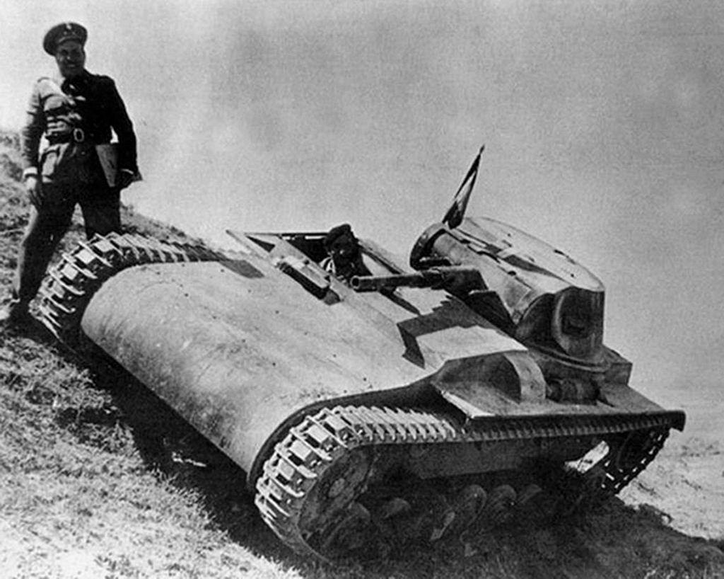 Carro de Combate Ligero Verdeja n°1 guerra civil española, basado en el tanque panzer I