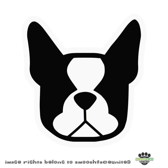 SALE Boston Terrier Dog Decal Vinyl Stickers You CHOOSE COLOR - Custom vinyl decals boston