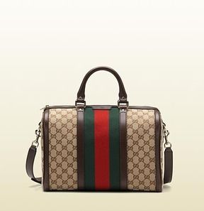 Gucci vintage web original GG fabric boston bag on shopstyle.com ... 4aa46a0aa9772