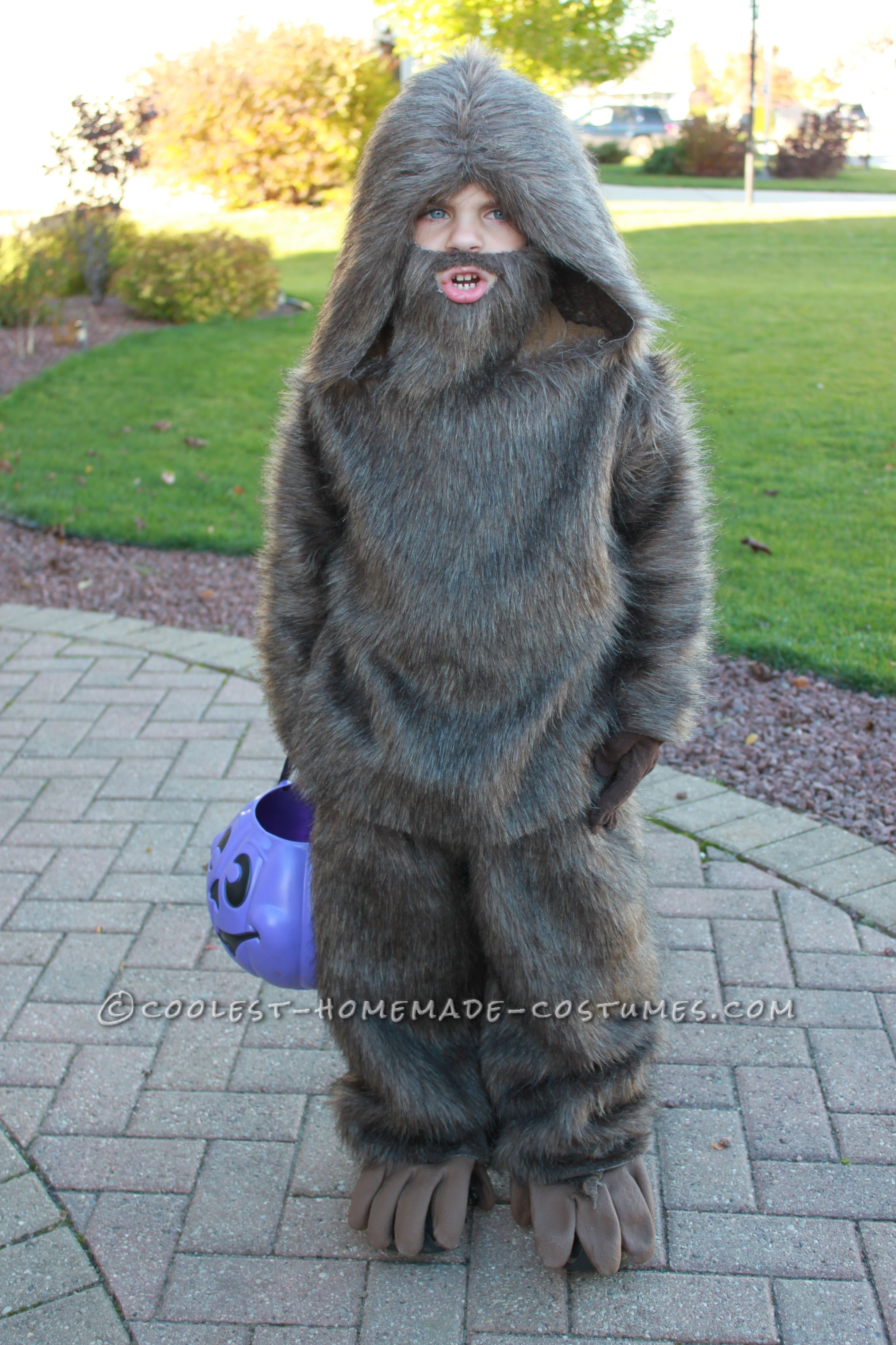 Quick and Easy Kids Bigfoot Costume | Bigfoot costume, Halloween ...