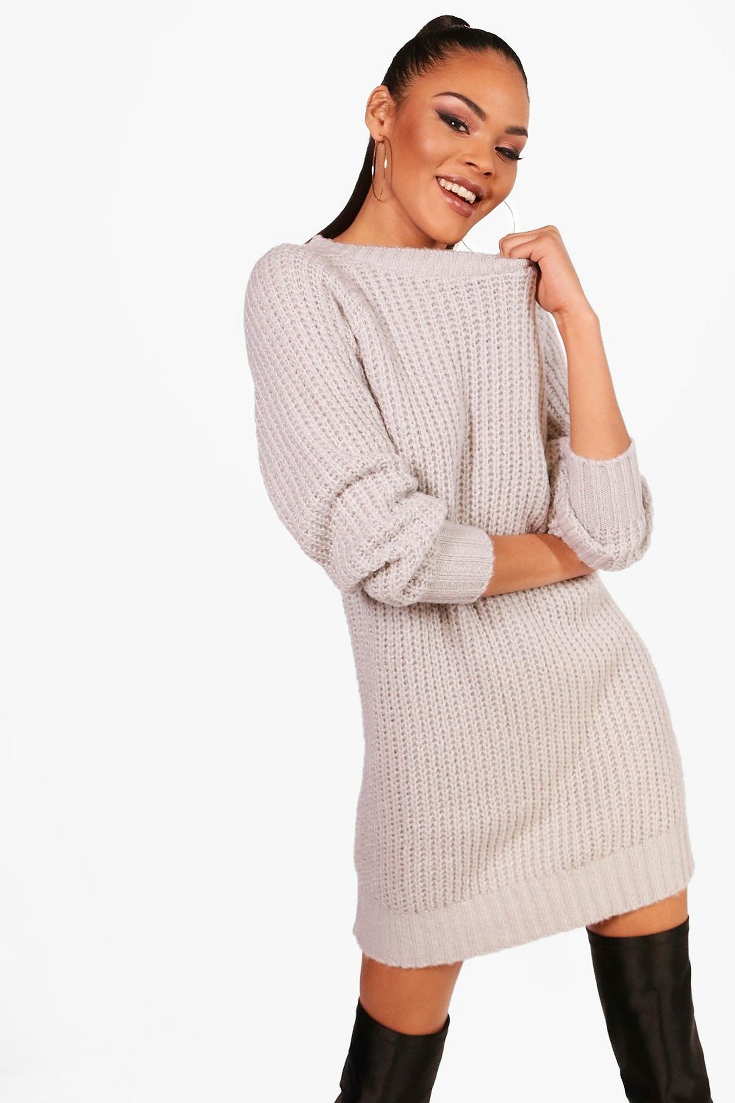 e8cf747bd3 Soft Knit Sweater Dress in 2019 | clothes → dresses | Knit sweater ...