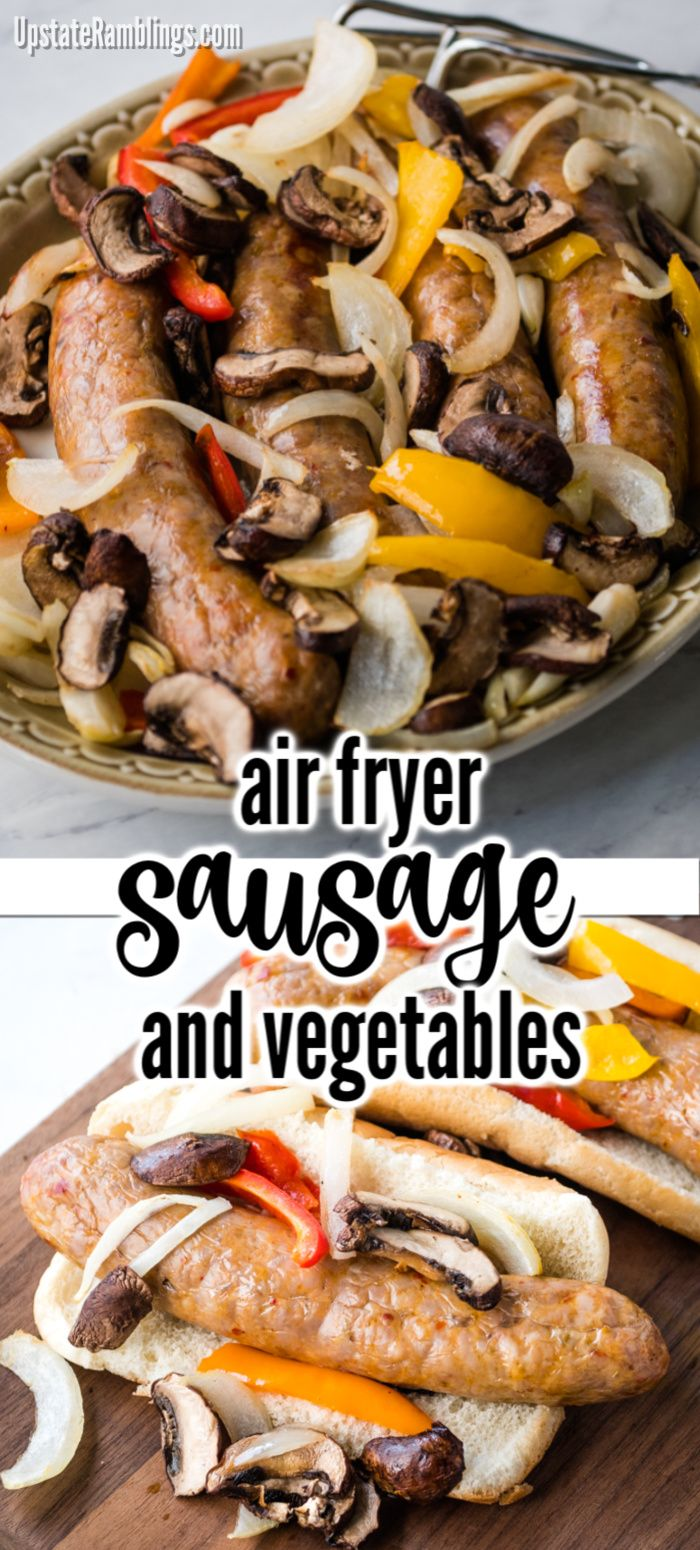 Air Fryer Italian Sausage and vegetables in 2020 Italian