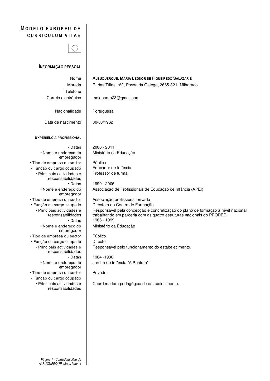 Modelo europeu de curriculum vitae informao pessoal nome modelo europeu de curriculum vitae informao pessoal yelopaper Images