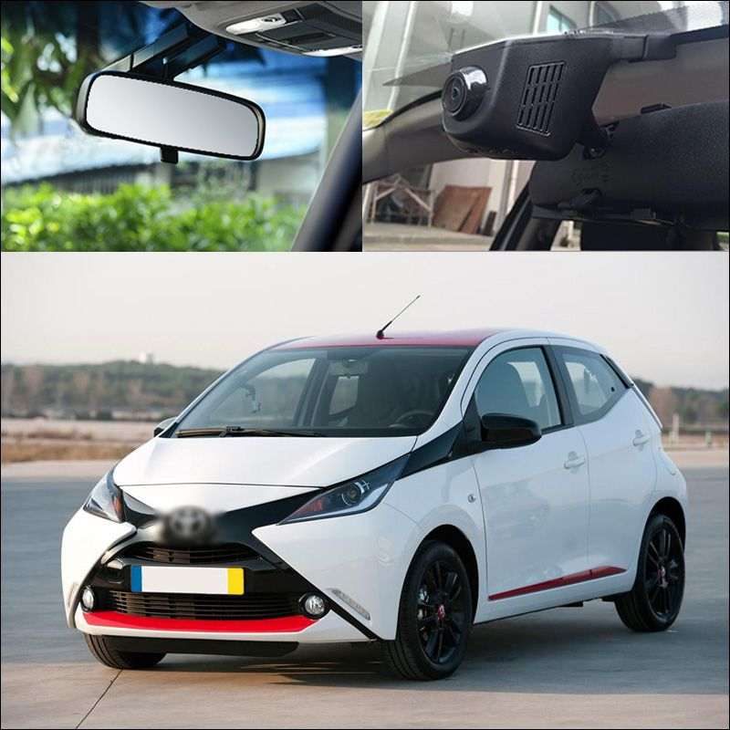 For TOYOTA Aygo Car driving Video Recorder FHD 1080P APP Control car wifi DVR car black box dash Cam G-sensor Hidden type
