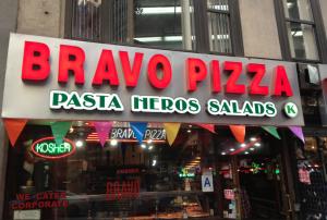 Bravo Pizza in Midtown, NYC - formerly unkosher ... now über kosher .. (OK) & Cholov Yisrael!