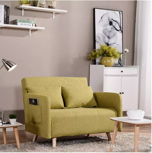 Couch Bed Sofa Sectional Sleeper Futon Living Room Furniture With Steel  Frame Linen Cover Quality Rebound