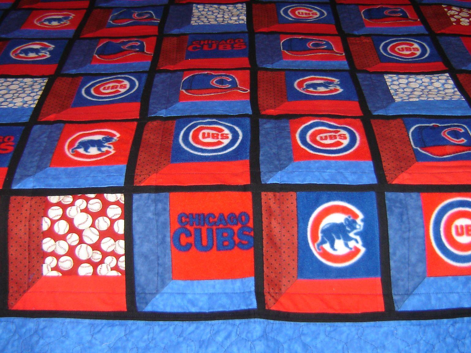 Chicago Cubs 3d Quilt Baseball Quilt Sports Quilts Quilts