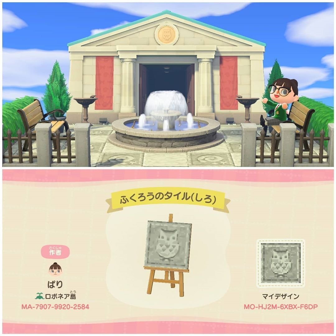 """Photo of ACNH Custom Design Codes on Instagram: """"Museum tiles. Make Blathers proud by displaying these. Created by parirobo on twitter. – ? Read Animal Crossing stories @humansofacnh – ✨…"""""""