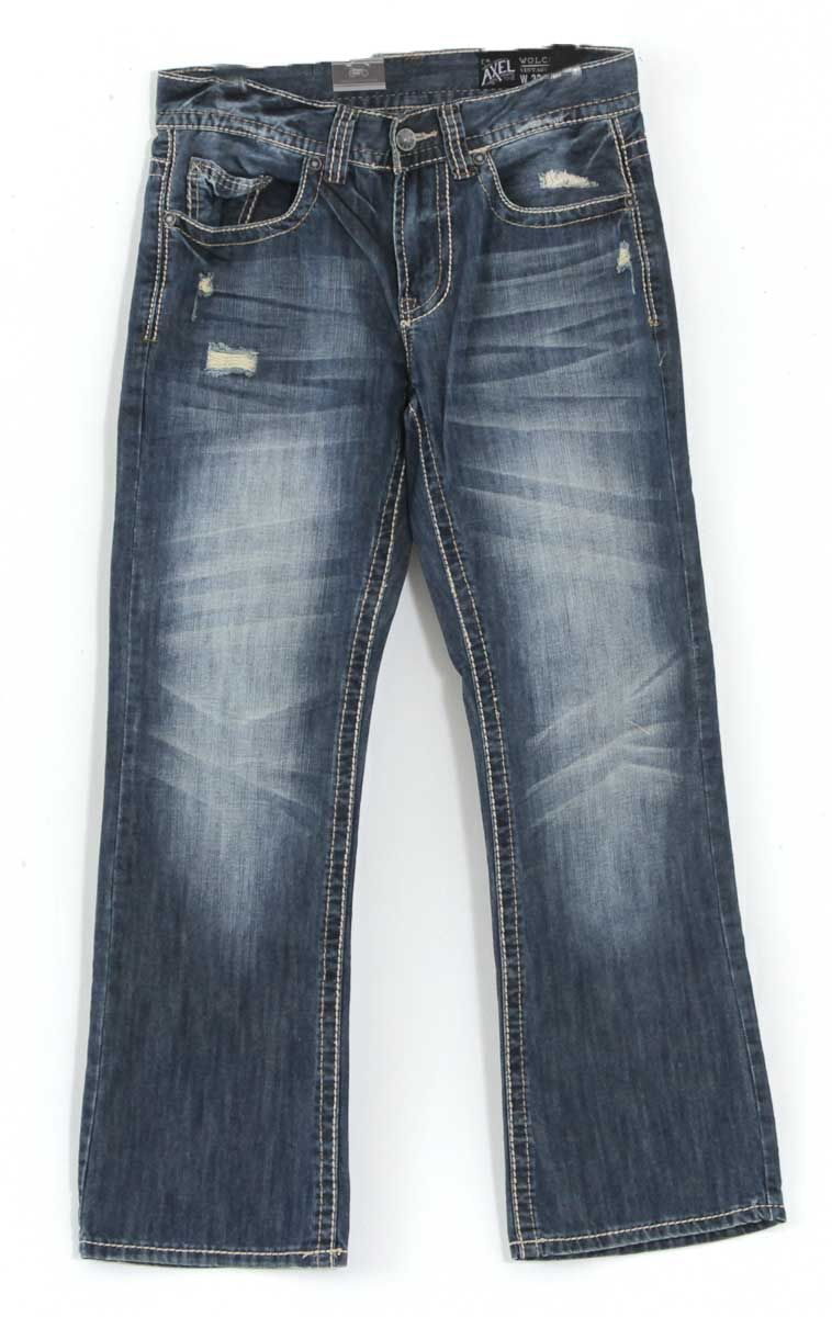 ddfab9c4357 Axel Jeans Wolcott Vintage Bootcut Jeans for Men with Dark Wash AX41006-18