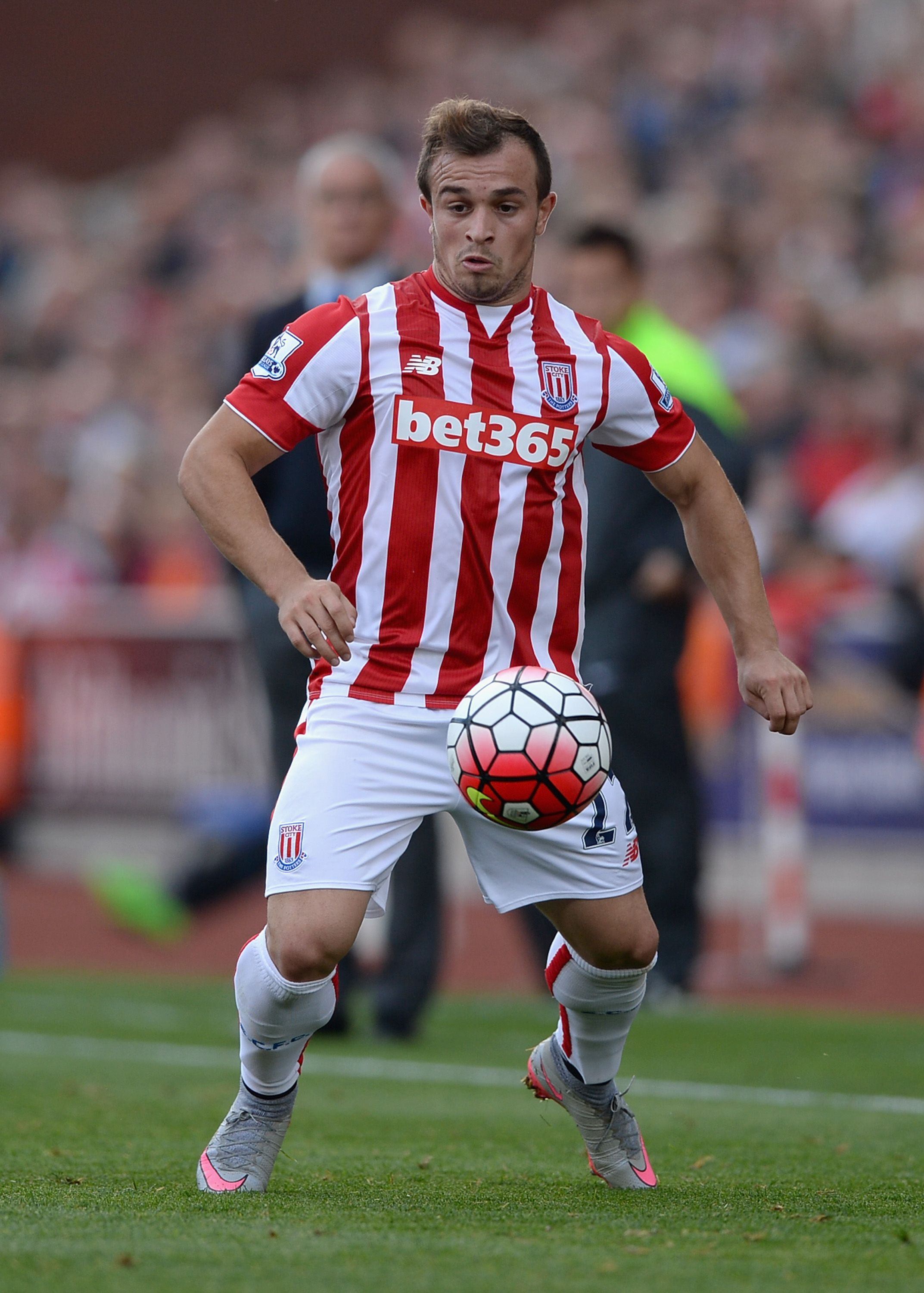 Xherdan Shaqiri Of Stoke City Leicester City Premier League Stoke City Premier League