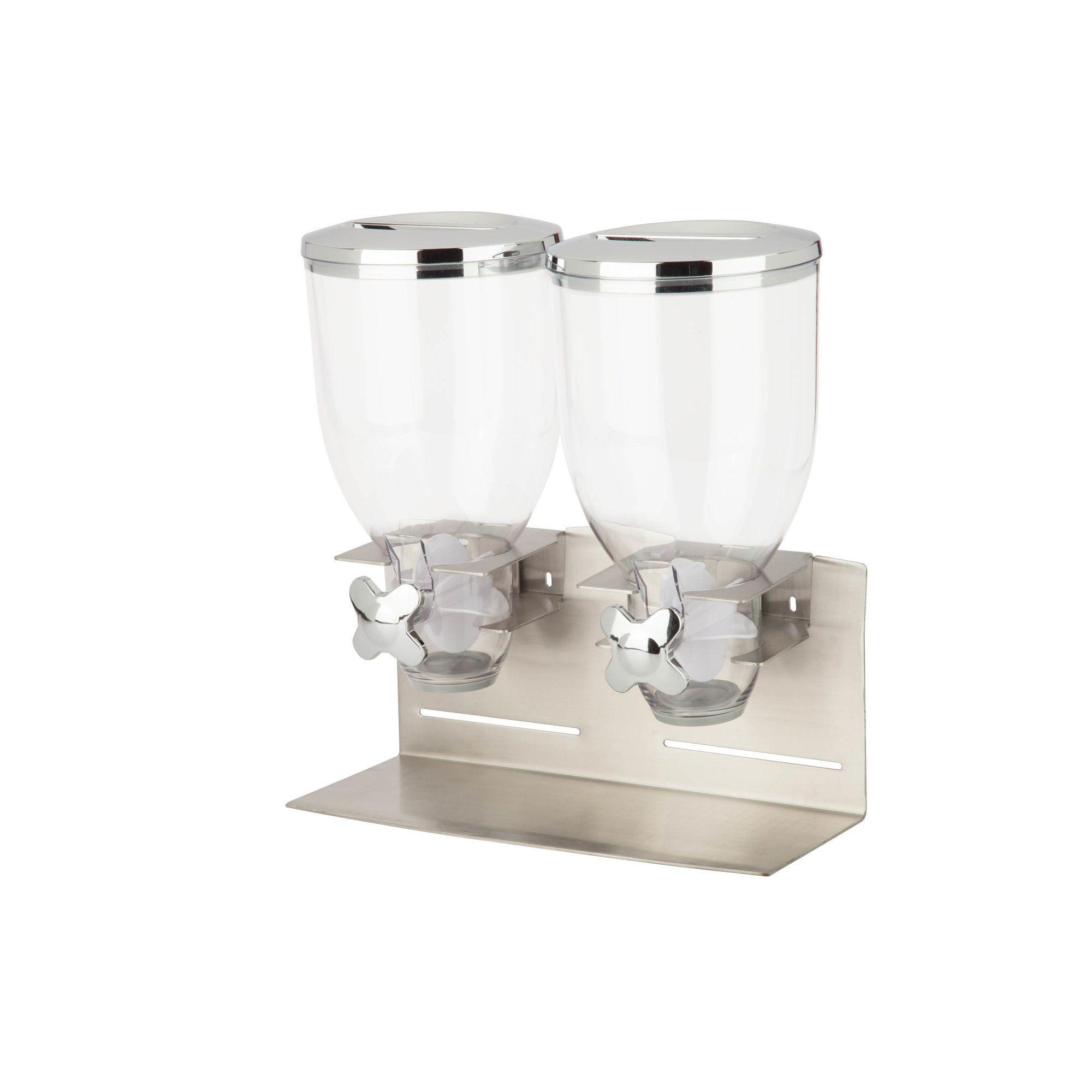 Double Designer Edition Dry Food 17.5 Oz. Cereal Dispenser