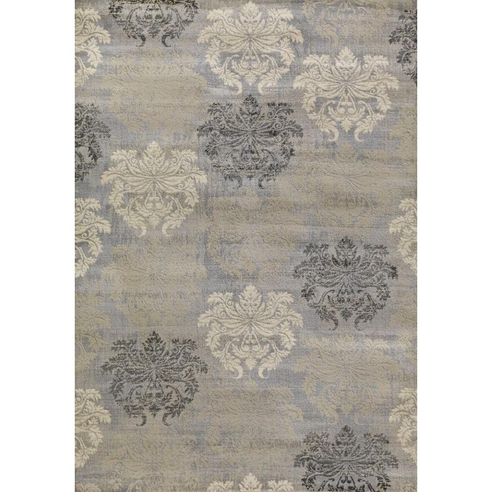 Lumina Damask Grey 8 Ft 2 In X 10 Ft 6 In Area Rug Damask Rug Grey Damask Rug Area Rugs