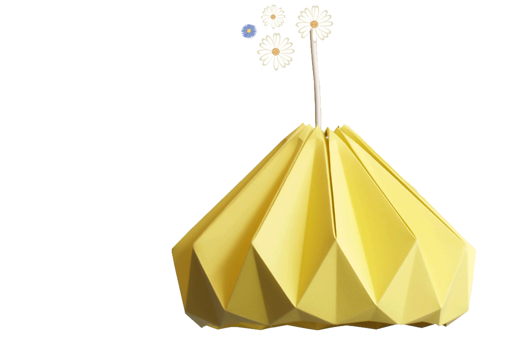 Studio Snowpuppe Lamp : Super beautiful origami folded lamps by studio snowpuppe new