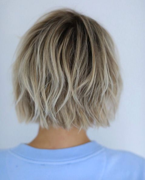 Messy styled chopped bob by Anh Co Tran