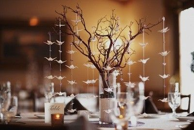Wedding Centerpieces Without Flowers Original Design