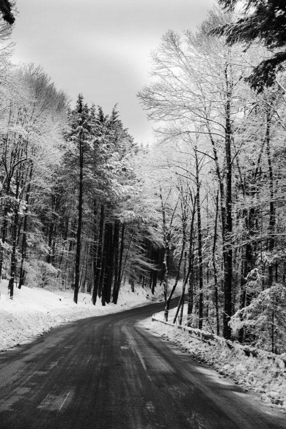 Hey i found this really awesome etsy listing at https www etsy com listing 179881642 snowy winter road black white