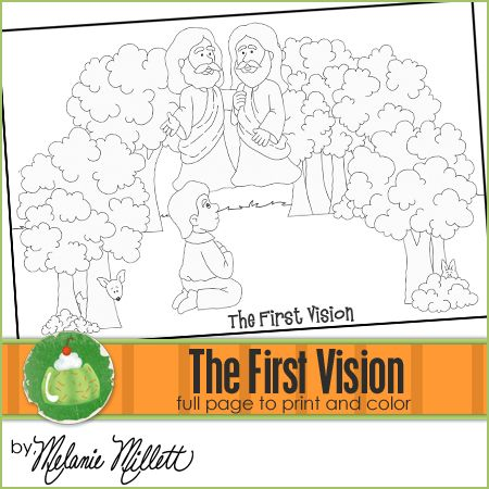 The first vision printable coloring page coloring pages for Coloring page of the first vision