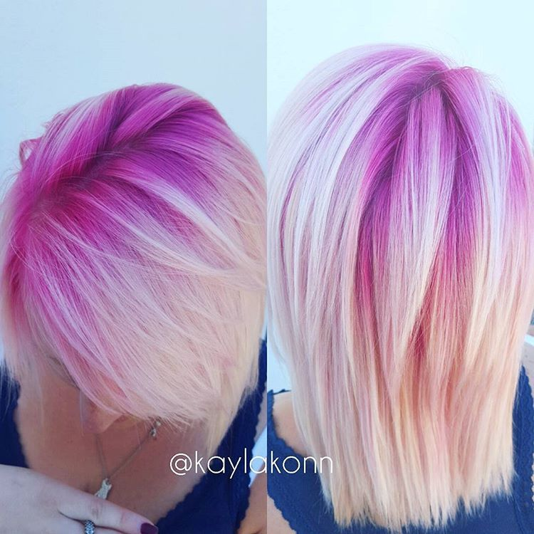 Magenta Shadow Roots | Girly Stuff///Hair | Pinterest ...