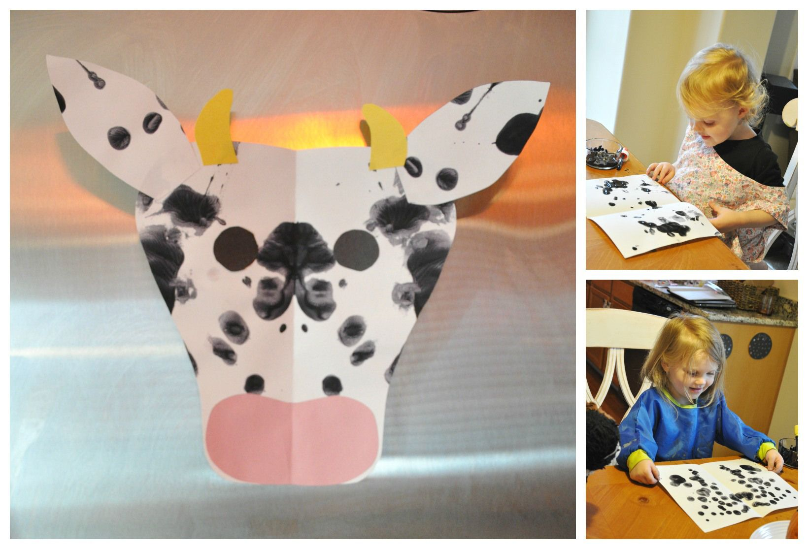 Ink Blot cow Painting | If Ever..... | Pinterest | Cow painting ...