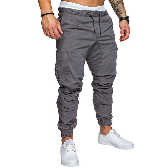 Men/'s Elastic Waist Pants Hip Hop Wide Leg Trousers Training Harem Sweatpants
