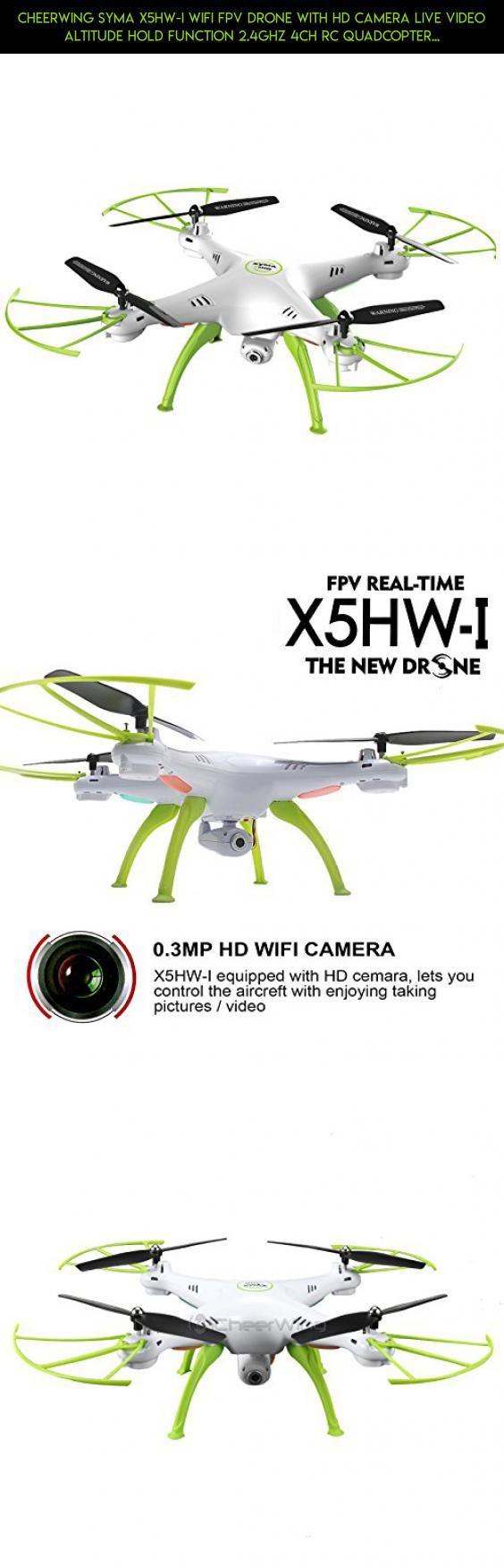 Cheerwing Syma X5HW-I Wifi FPV Drone with HD Camera Live Video ...