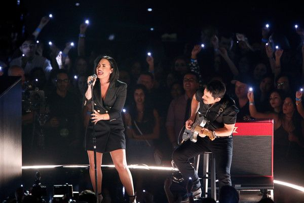 Demi Lovato performs onstage during the iHeartRadio Music Awards