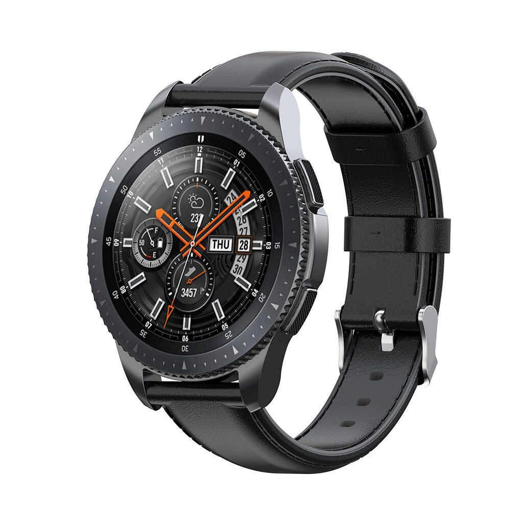 Leather Watch Band Buckle Wrist Strap For Samsung Galaxy Watch 46 Gear S3 Gear 2 2019 Dropshipping Smotret