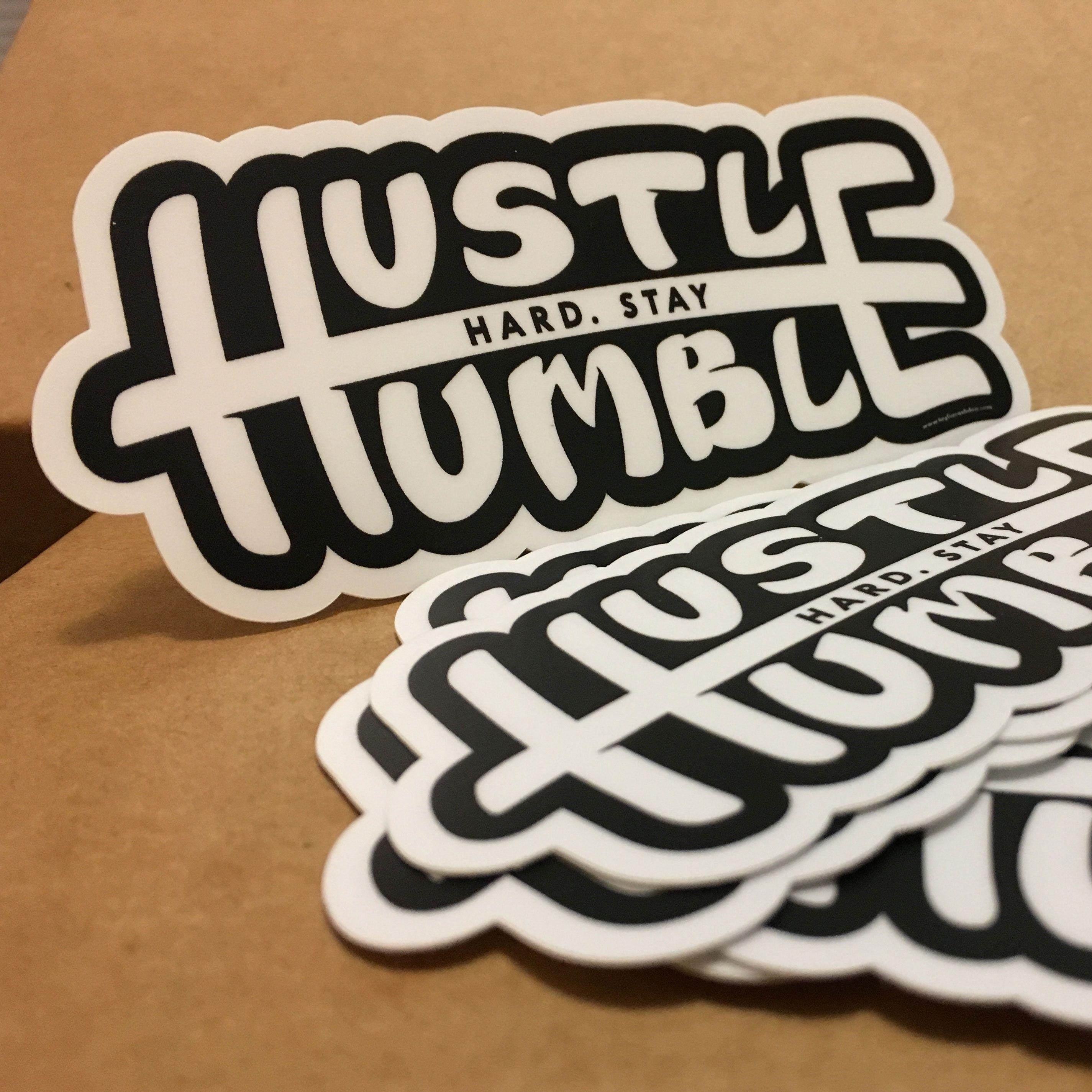 Stay humble sticker lettering handlettering art brush sketch illustrator