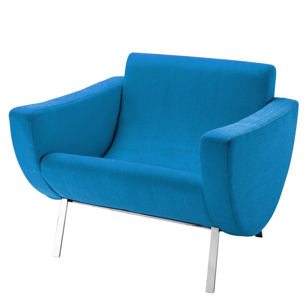 Amazon Queen Bleu fauteuil vintage bleu guariche mandarine | blue armchair