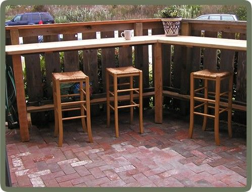 outside bar ideas Patio Bar with Stylish Designs   Pictures Photos