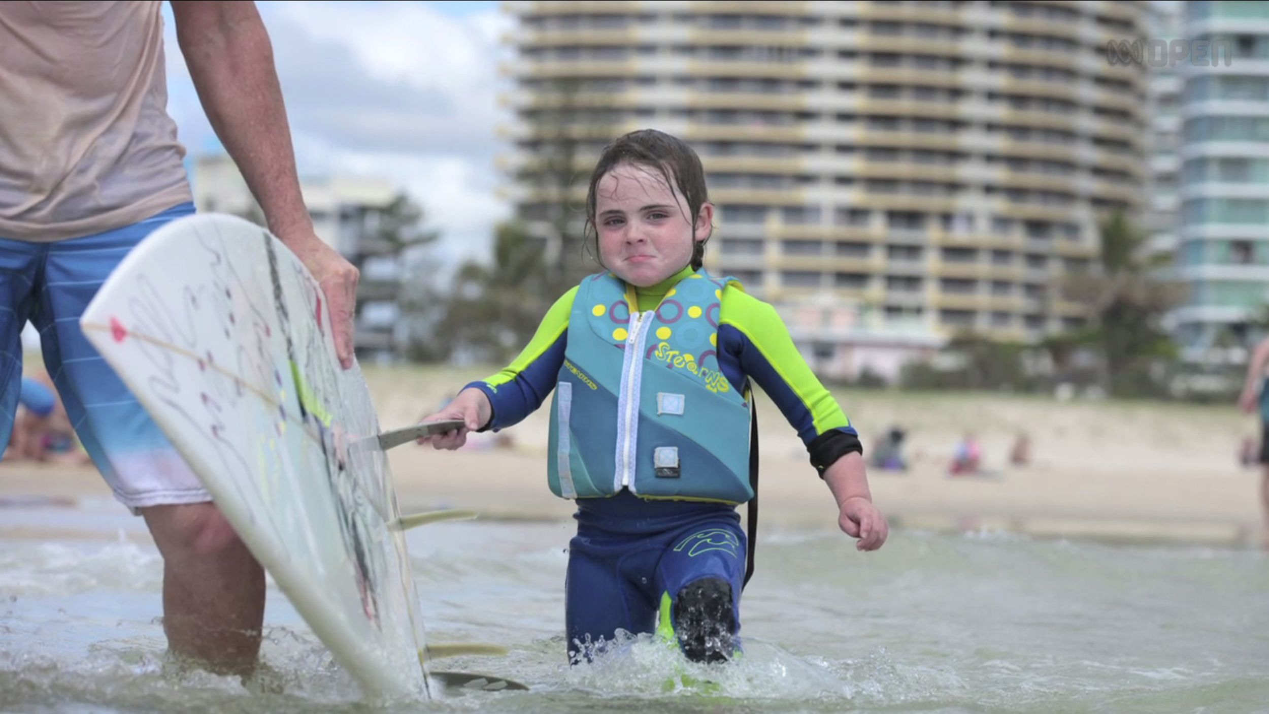 6-year-old surfer girl won't let disease wipe out her serious skills