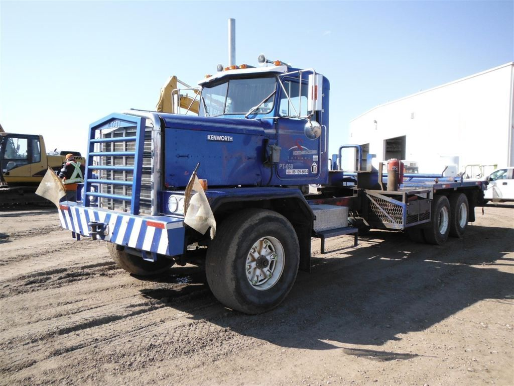Used 1985 kenworth c500 t a flatbed truck for sale edmonton ab