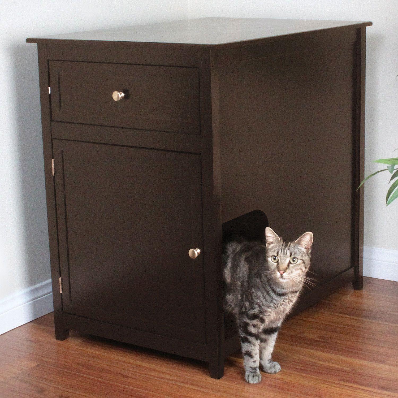 Petco Premium Privacy Please Den Cat Litter Box Furniture Petco