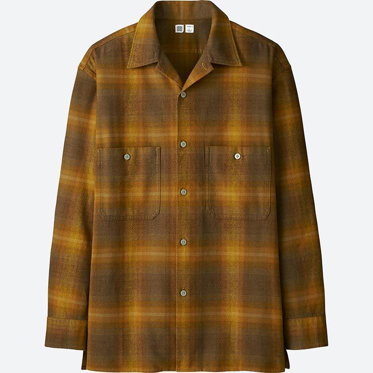 X-Future Mens Long Sleeve Plaid Print Loose Fit Cotton Big /& Tall Plus Size Checkered Shirt