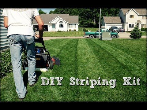 Lawn Striping Diy Striping Kit Build And Demonstration Youtube Lawn Striping Diy Lawn Toro Lawn Striper