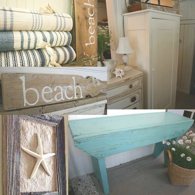 Shabby Beach Decor Chic House Decorating Meets