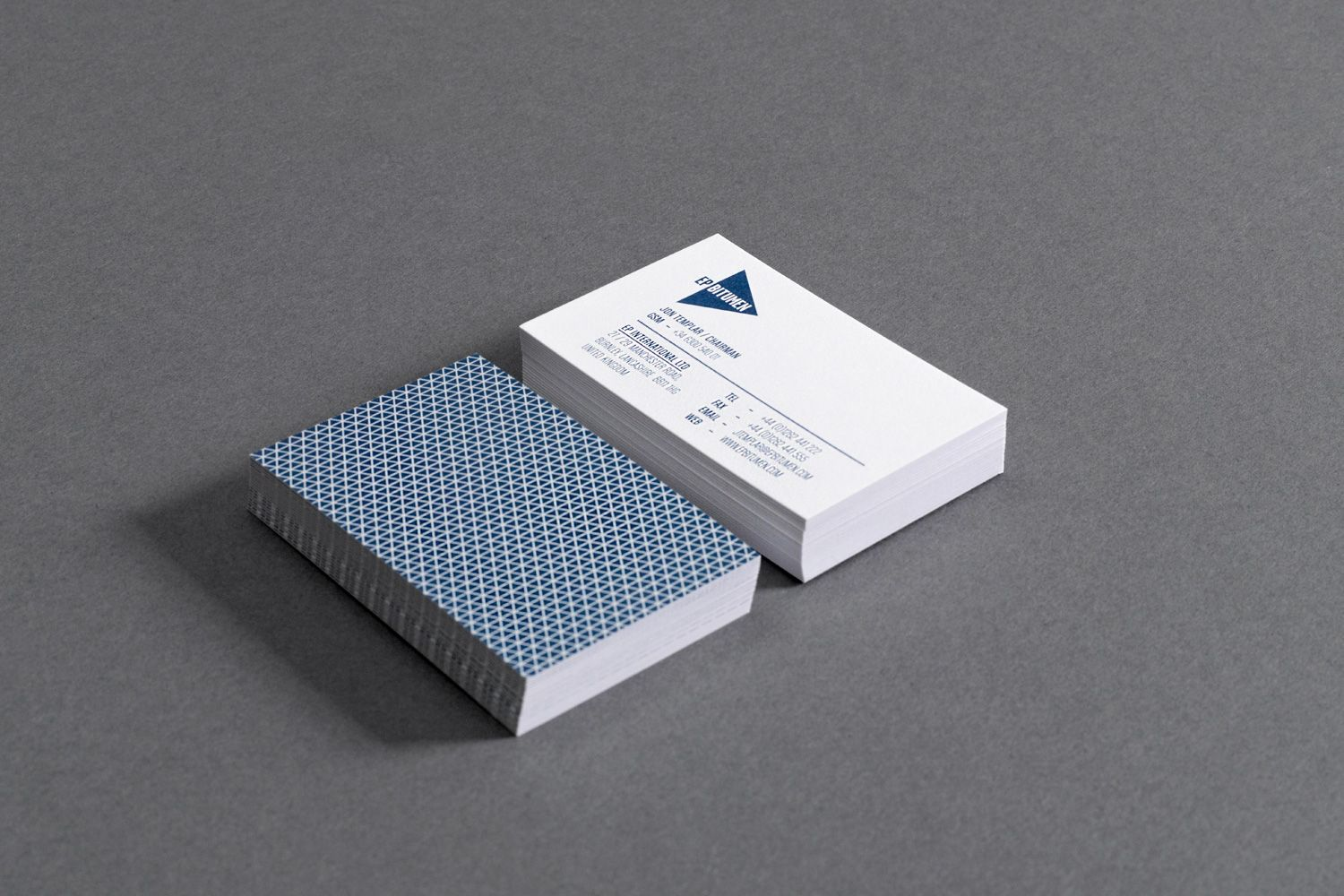 Business cards with a nice back pattern. | Business cards ...