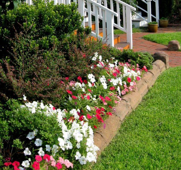 Garden bed borders, edging ideas vegetable flower