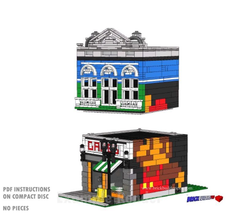 Cd Modular Pizza And Game Shops Lego Custom Instructions Cafe