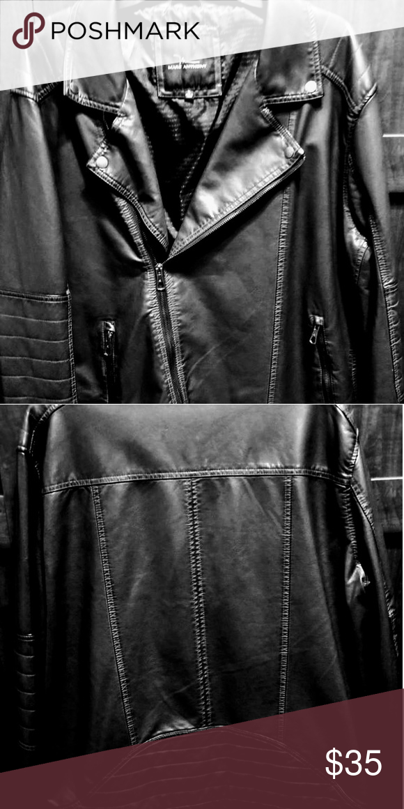 29280c5f90b Marc Anthony Faux Leather Jacket New w o tag - Soft Men s Faux Leather  Jacket