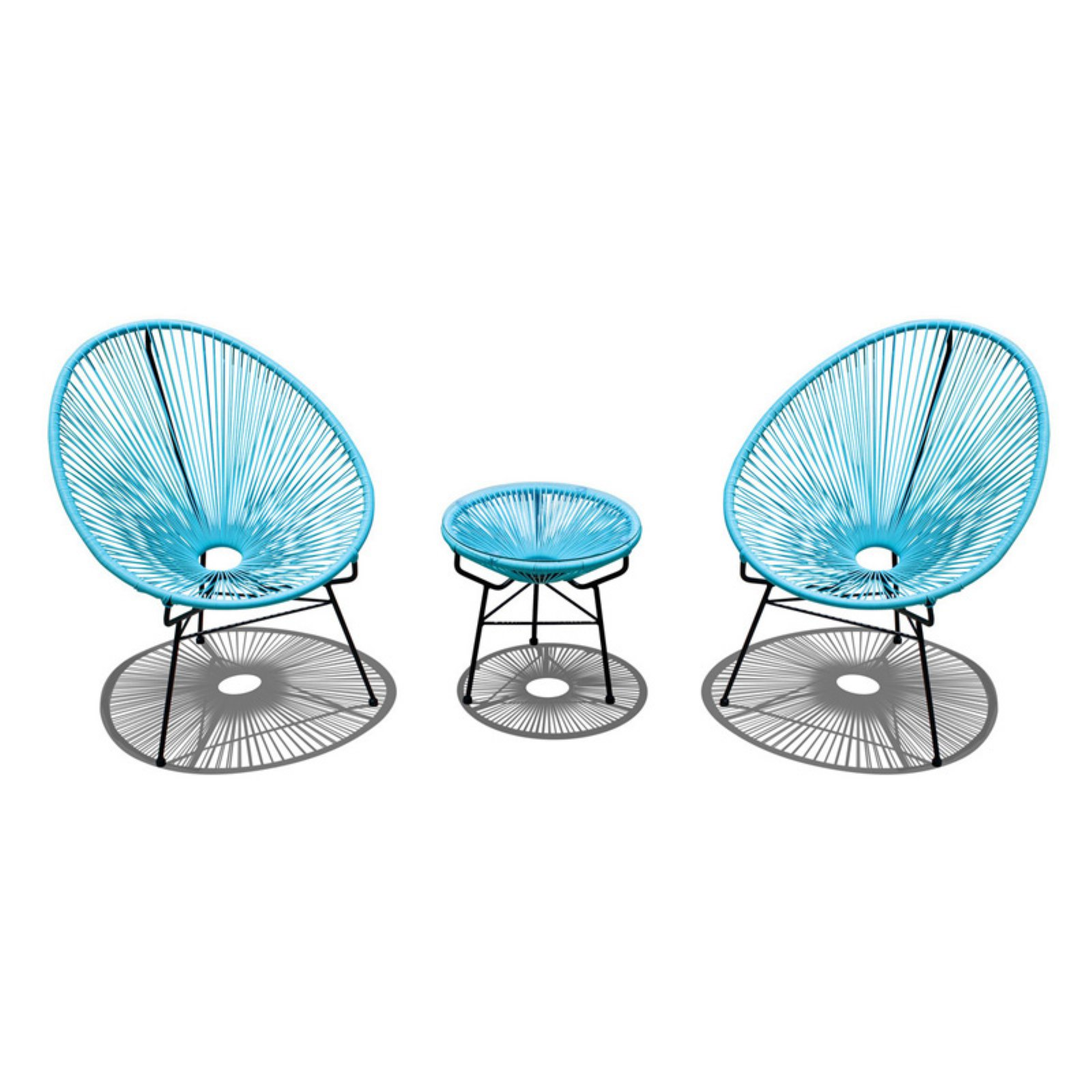 Harmonia Living Acapulco 3 Piece Chat Set With Images Acapulco Chair Patio Dining Chairs Conversation Set Patio