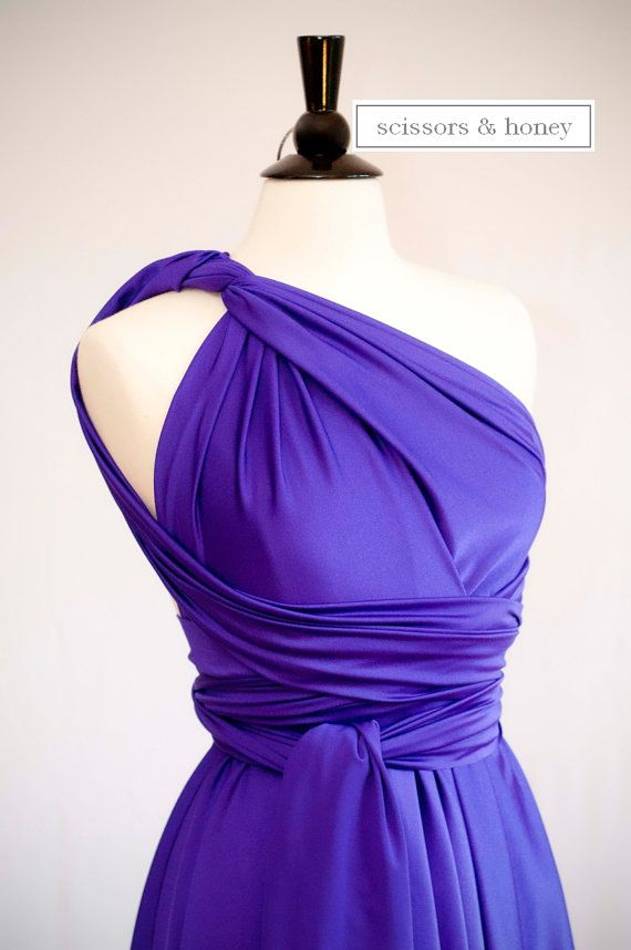 Convertible Dress, Infinity Dress in Purple, Size Small/Medium ...