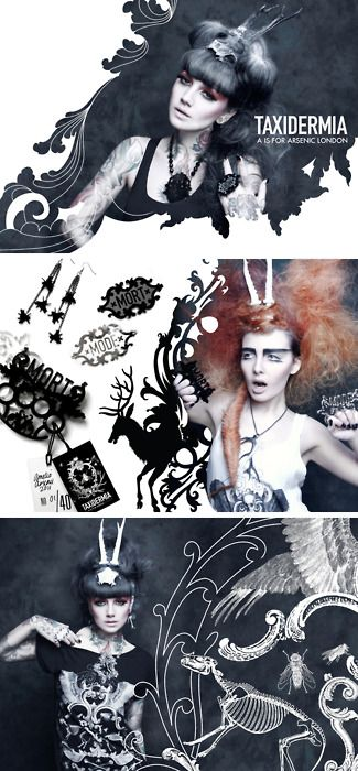 A is for Arsenic Taxidermia Lookbook.