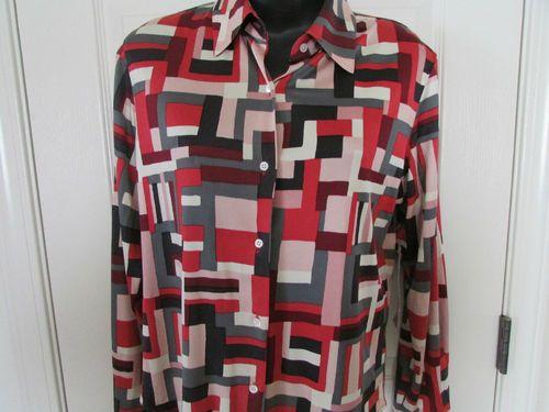 Anne Klein New York Blouse Shirt Top MSRP $275.00 NWT