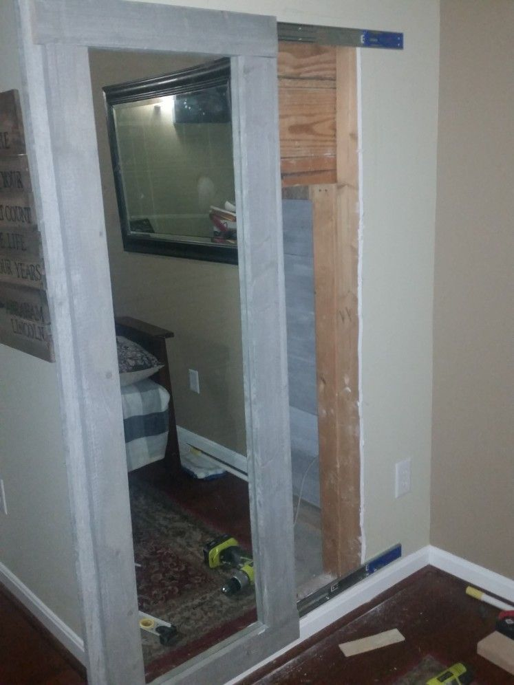 DIY Sliding Mirror Hidden Door To Under Staircase Panic Room/Harry Potter  Closet