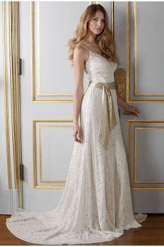 1930s Antique Style Ivory Lace Wedding Dress