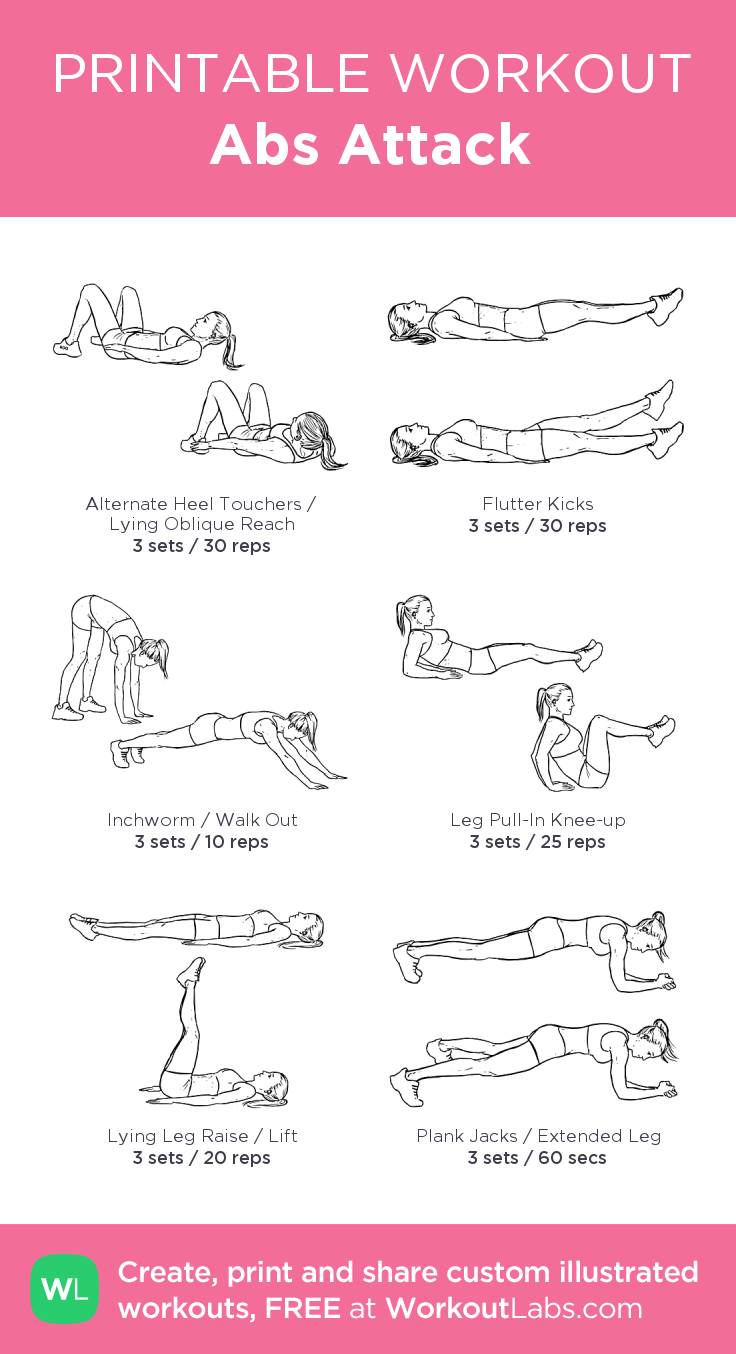 Abs Attack: my visual workout created at WorkoutLabs com