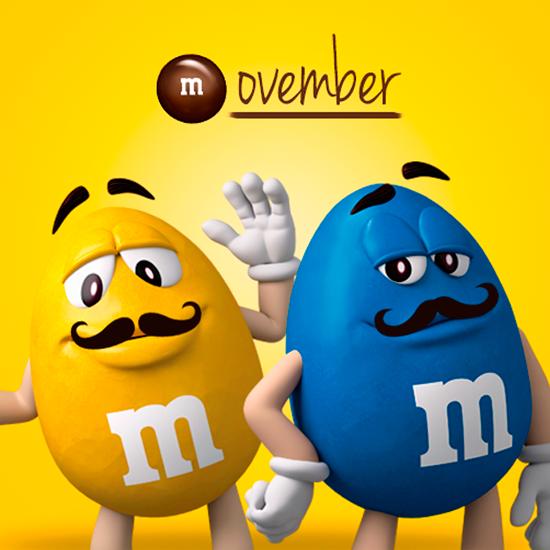 M M S Espagna Este Mes Nos Ponemos Guapos Para La Ocasion Ovember Style A Tope De Power M M Characters Yellow M M Hello November