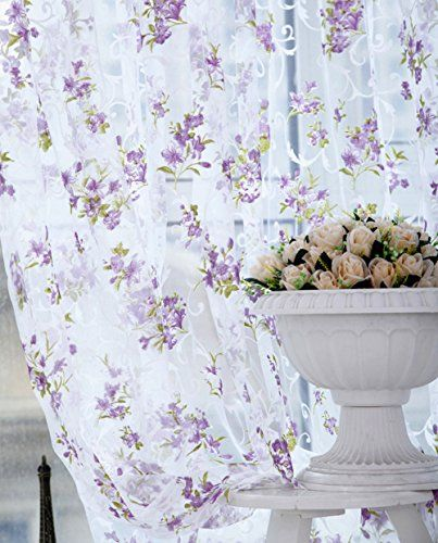 Edal Floral Tulle Voile Door Window Curtain Drape Panel Scarf Sheer Valances for Home Decor Purple Edal http://www.amazon.com/dp/B016Q01VR8/ref=cm_sw_r_pi_dp_EmaWwb1G622YR